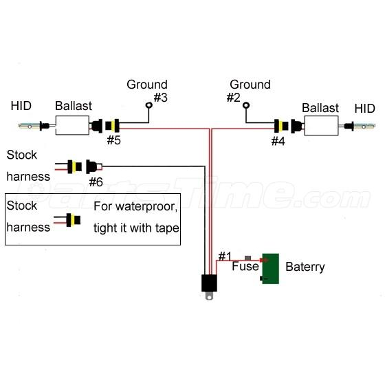 9006 9005 hb3 hb4 35w 55w xenon hid conversion relay wire. Black Bedroom Furniture Sets. Home Design Ideas
