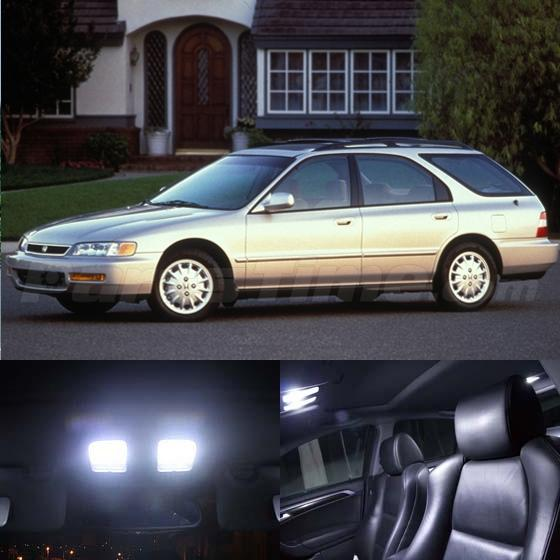 10x white led interior package kit for 1994 1997 honda accord sedan wagon. Black Bedroom Furniture Sets. Home Design Ideas