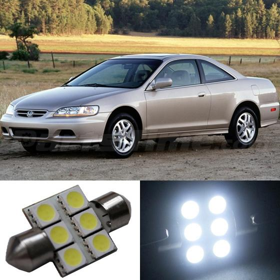 8x White Light Honda Accord Led Interior Package Kit For 1998 2002 Coupe