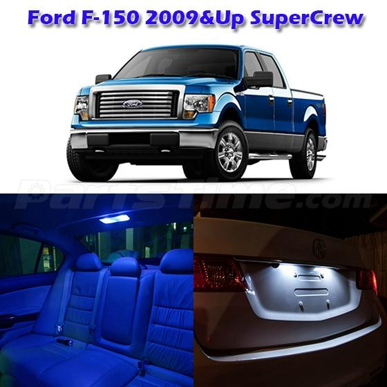 7x Blue Interior LED Lights Combo For 2009-2012 Ford F-150