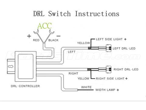 Drl Led Daytime Running Light Relay Harness Automatic On