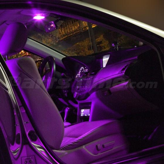 2 pcs 36smd purple led interior car light panel lamp bulb t10 festoon ba9s dome ebay. Black Bedroom Furniture Sets. Home Design Ideas