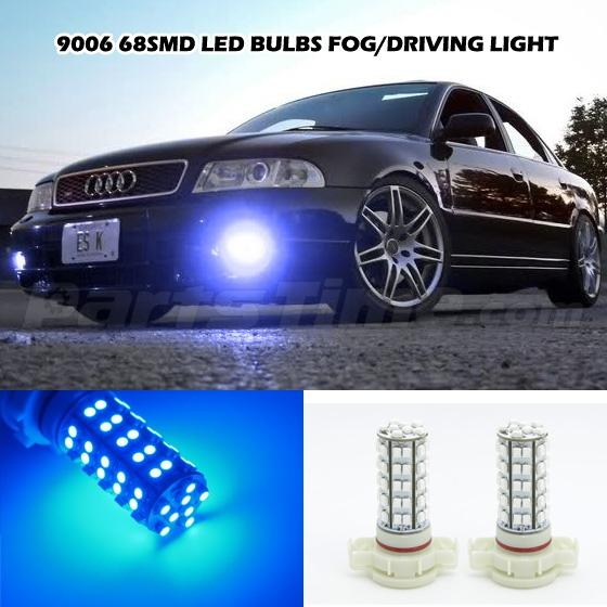 Blue PSX24W 2504 68SMD LED Bulbs Fog/Driving Light For