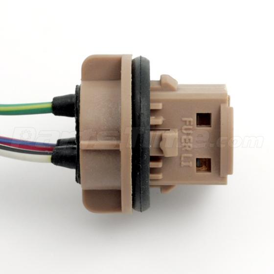 2 pcs pre wired sockets plugs harness for standard 7443 7440 brake 4x 1157 1158 2057 2357 plug wiring harness sockets for turn signal light bulb
