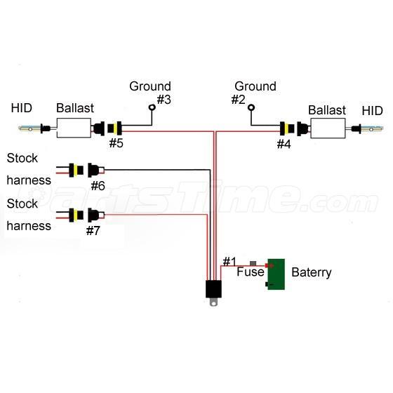 1 Pcs 9005 9006 9145 Hb3 Xenon Hid Conversion Relay