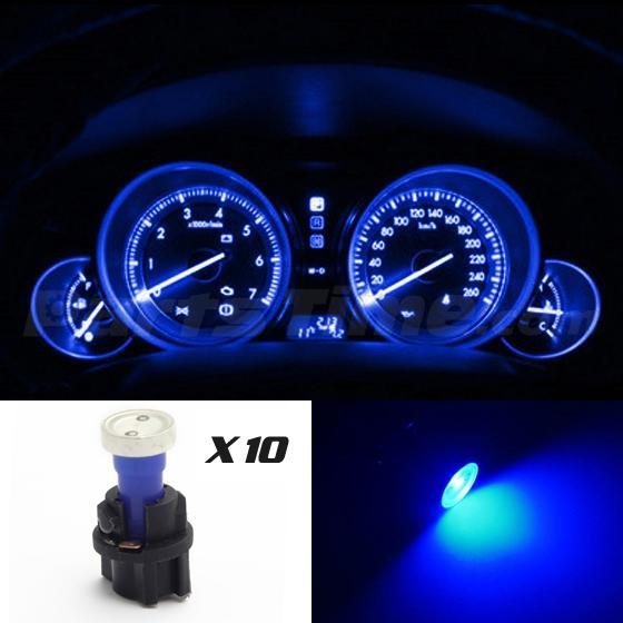 60x T5 74 Led Dashboard Speedometer Gauge Indicator Light: (10) PC74 Bulb Kit For Ford Indicator Dash Check Engine