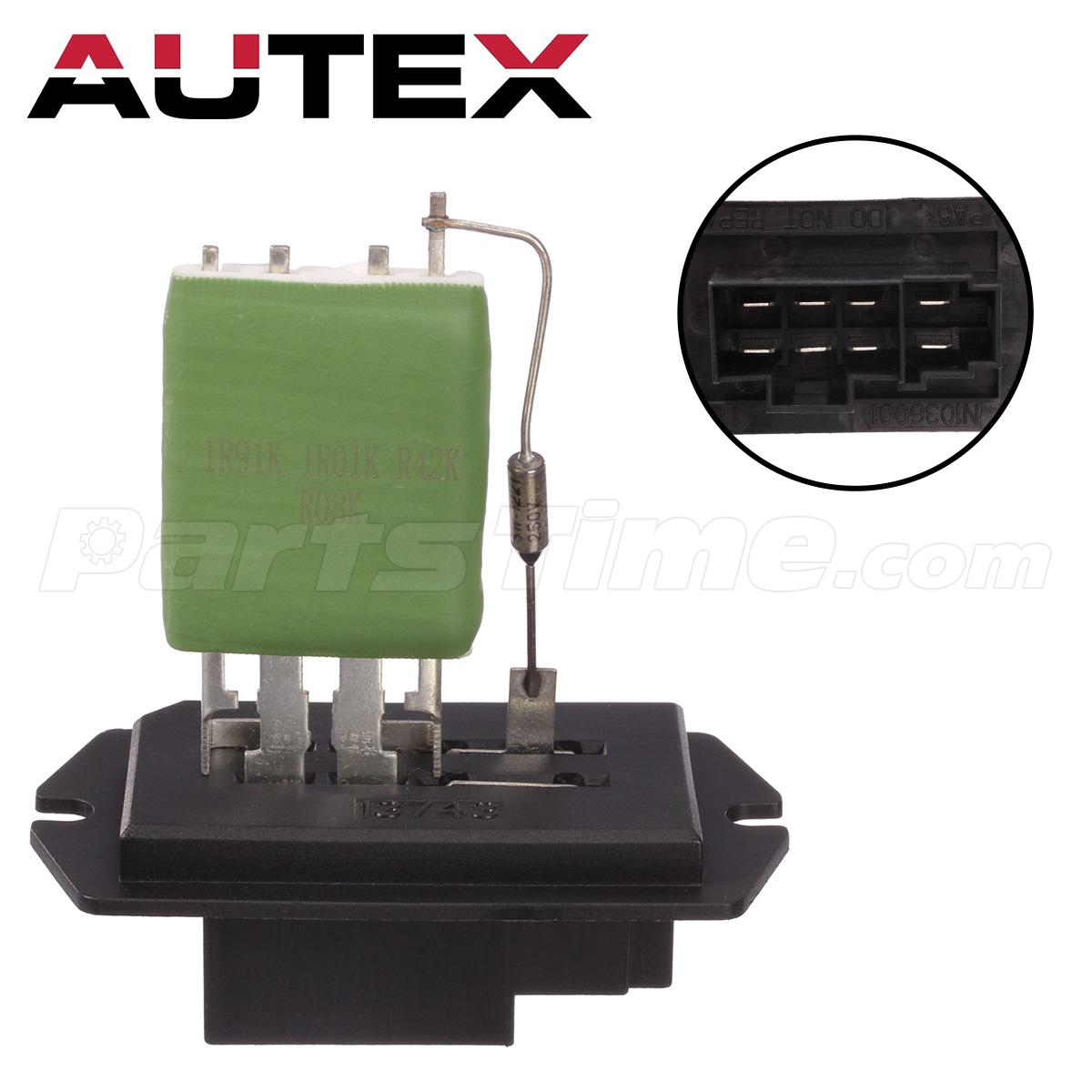Hvac blower motor resistor replaces oem 68029175aa for for Blower motor only works on high speed