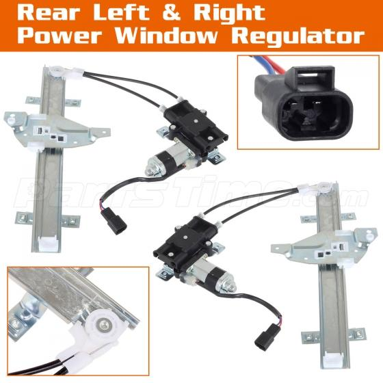 Rear right left side power window regulator w motor for for 1998 buick regal window motor