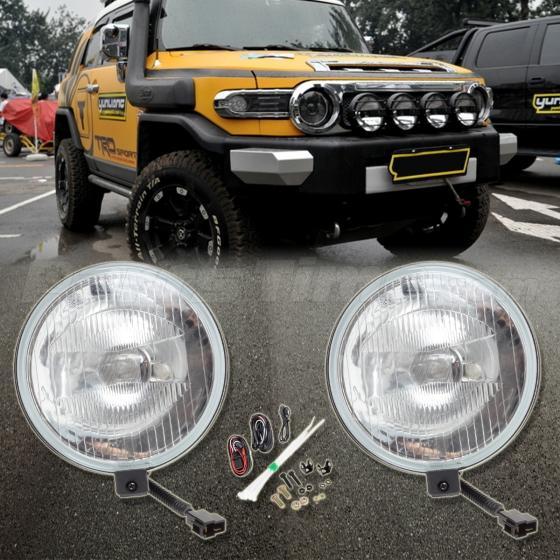 New For 07 15 Toyota Fj Cruiser Black Bumper Fog Lights