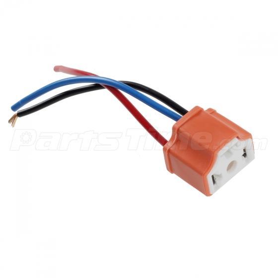 set 2 h4 9003 ceramic wiring harness connector socket for car 4x 1157 1158 2057 2357 plug wiring harness sockets for turn signal light bulb
