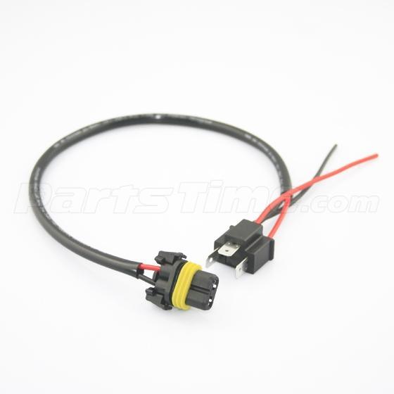 New H4 Headlight Bulb Male Wire Harness Connector Wiring on Headlight Bulb Socket Wiring Diagram