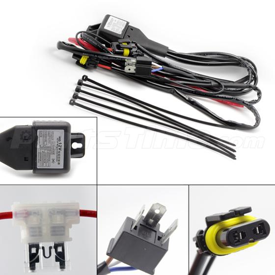 car hid xenon hi lo headlight h bulbs relay fuse cable car hid xenon hi lo headlight h4 9003 bulbs relay fuse cable wiring harness 35w