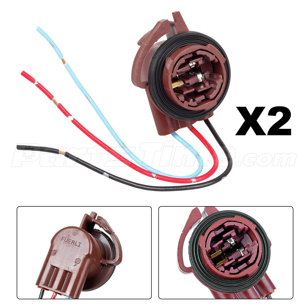 2) 3157 4157 3156 Female Socket Turn Brake Light Connector