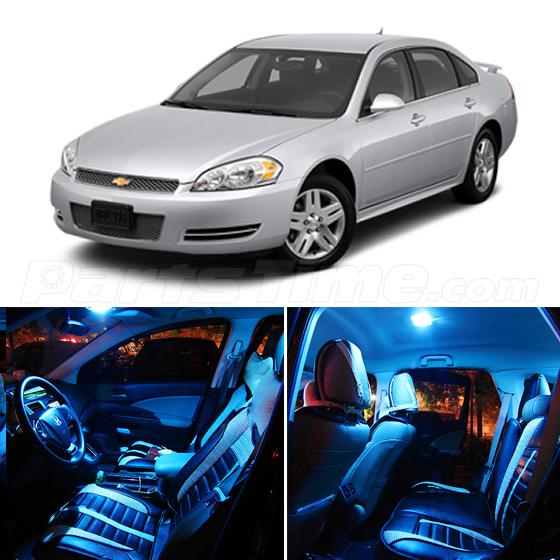 set of 7 combo led interior light for chevrolet impala. Black Bedroom Furniture Sets. Home Design Ideas