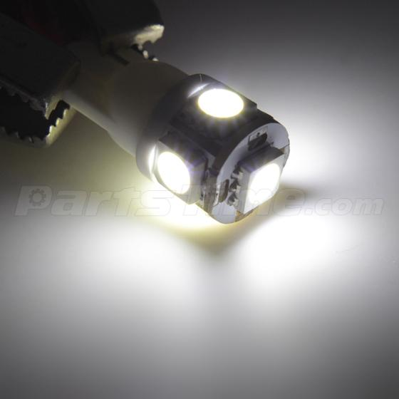 8x Xenon White LED Lights With License Plate For Chevrolet