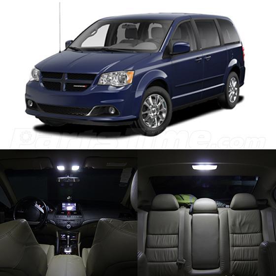 2008 Dodge Grand Caravan: 11x Xenon White LED Light Interior Package For Dodge Grand