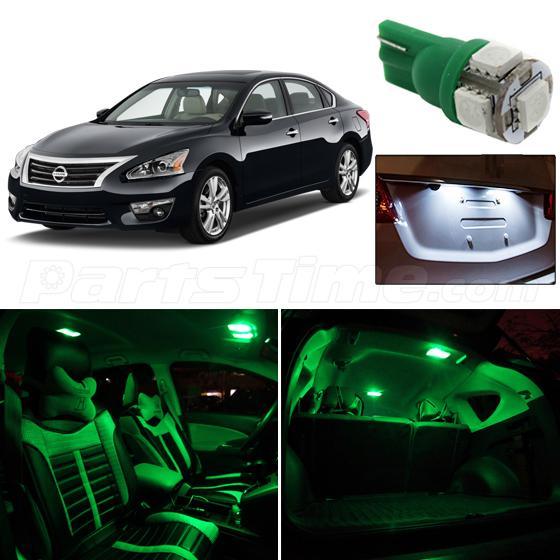 11x for nissan altima sedan green interior bulb white license lights 2013 2015 ebay 2015 nissan altima interior lights