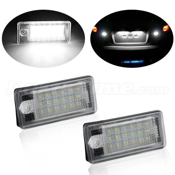 2x white led license plate light for audi a3 s3 a4 s4 a6. Black Bedroom Furniture Sets. Home Design Ideas
