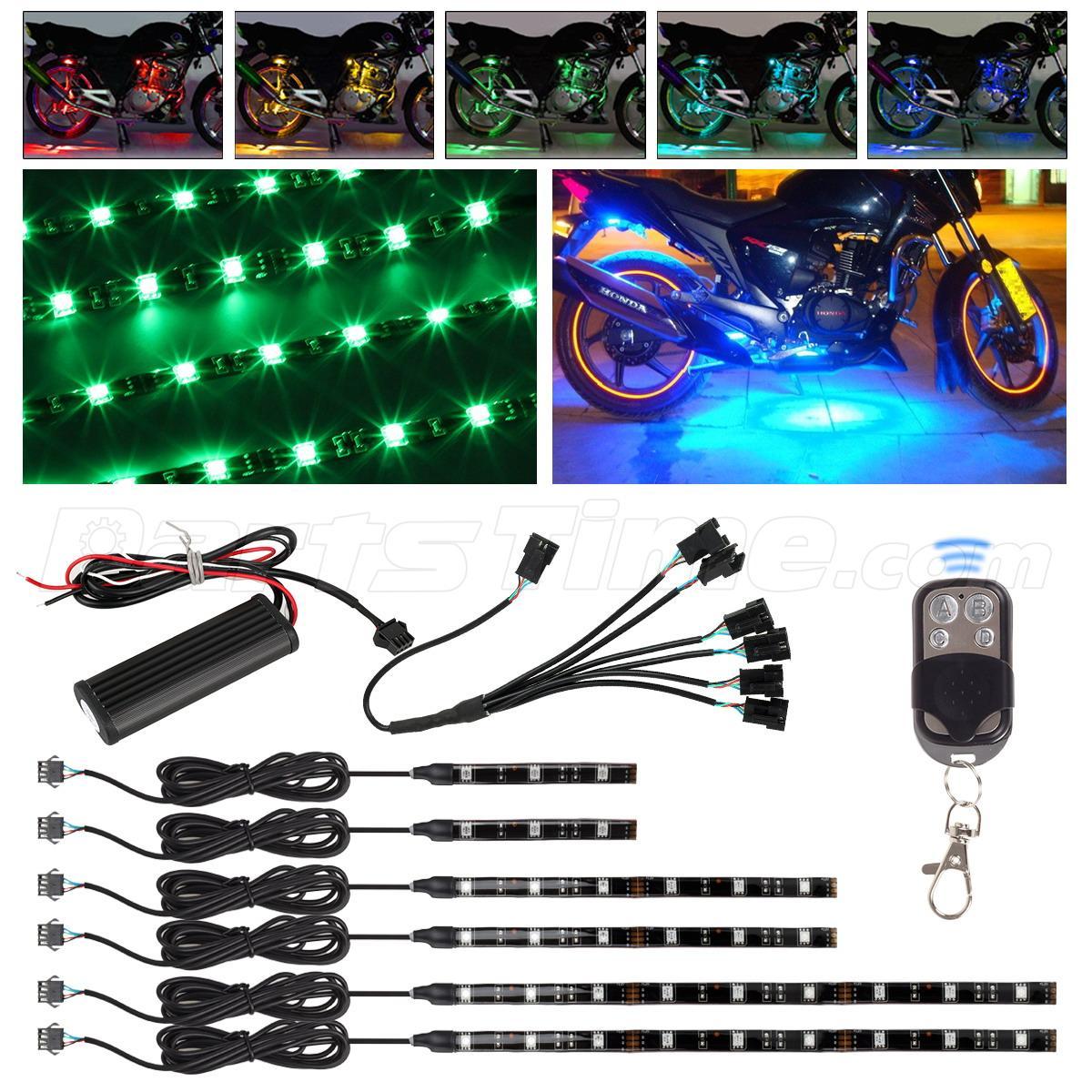 color flexible strip motorcycle 36 led neon accent lighting kit ebay. Black Bedroom Furniture Sets. Home Design Ideas