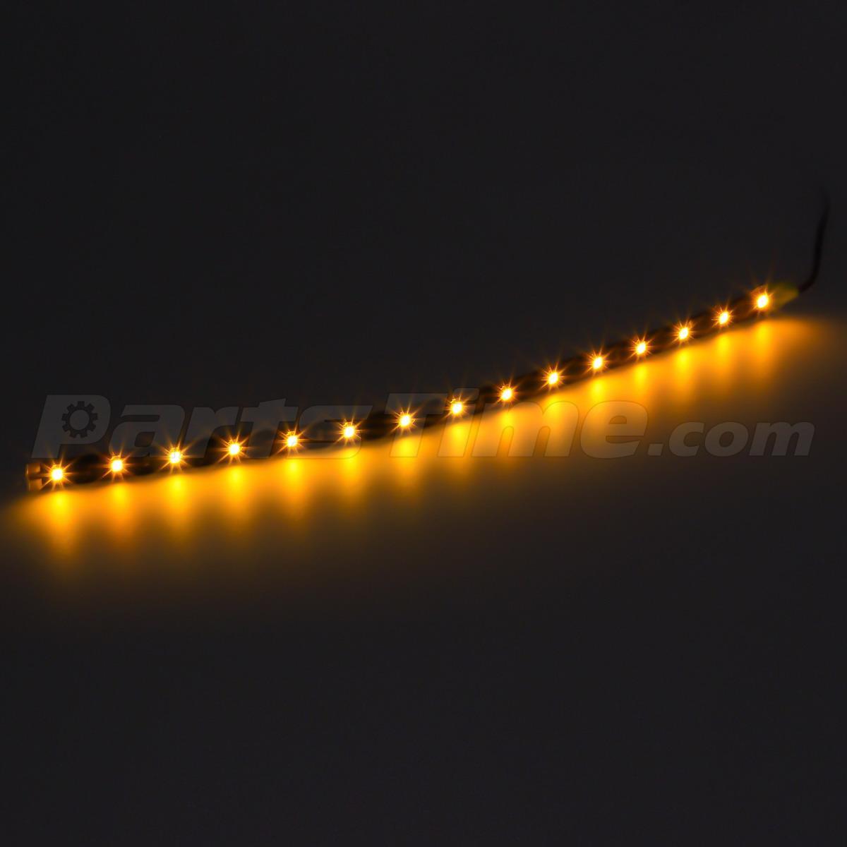 amber led strip light flexible