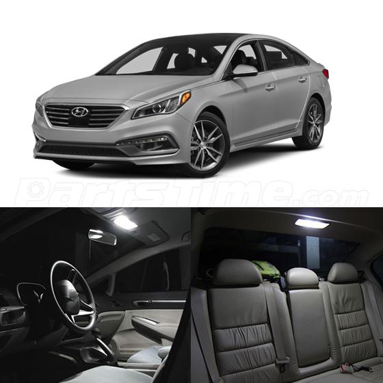 10x fit for 2015 2016 hyundai sonata white led package ebay. Black Bedroom Furniture Sets. Home Design Ideas