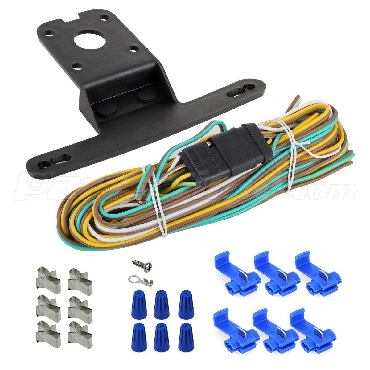 cer trailer boat rv light kit side fender marker stop turn wire harness ebay