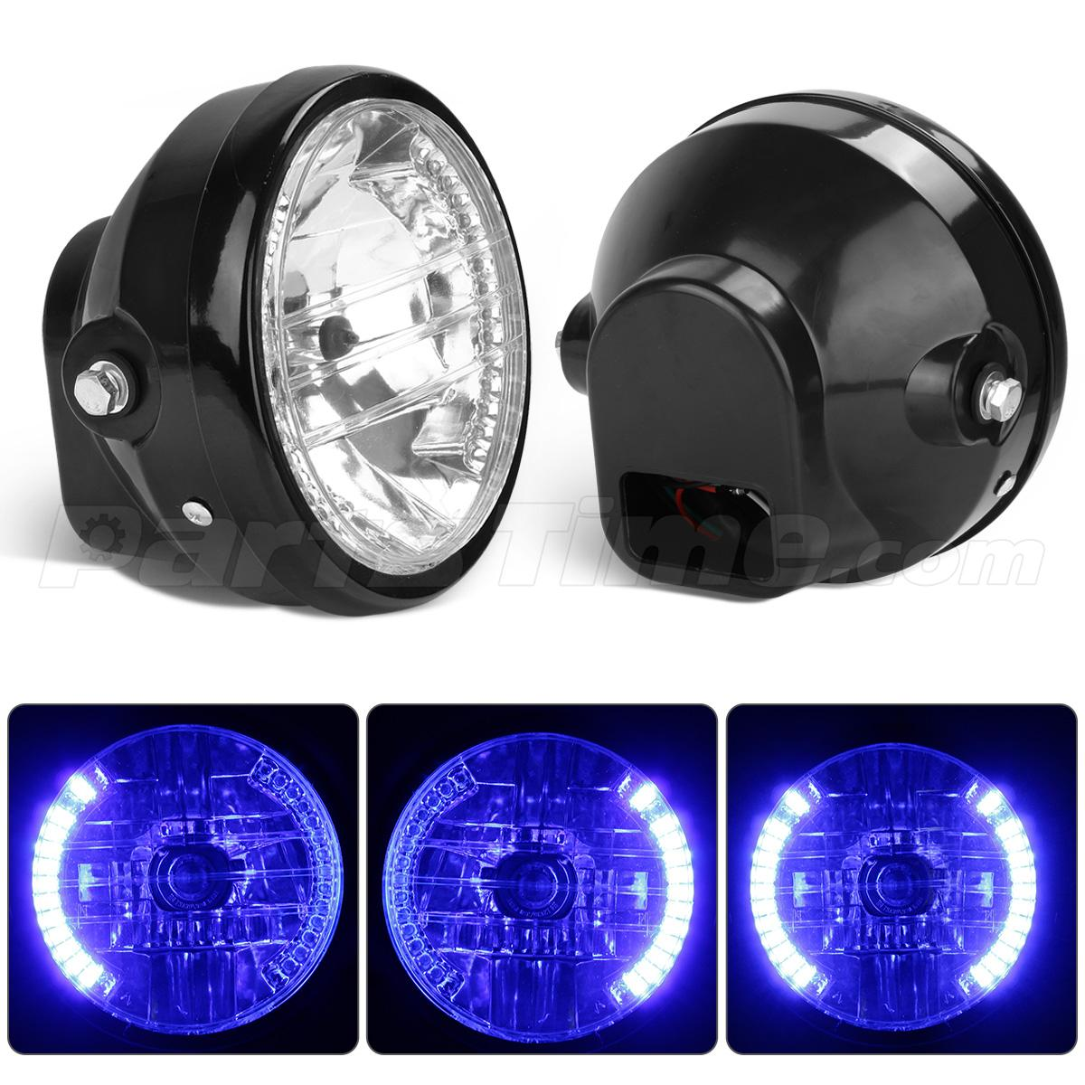 7 motorcycle headlight blue led turn signal indicators for harley please be informed that installation instruction is not included professional installation is highly recommended sciox Image collections